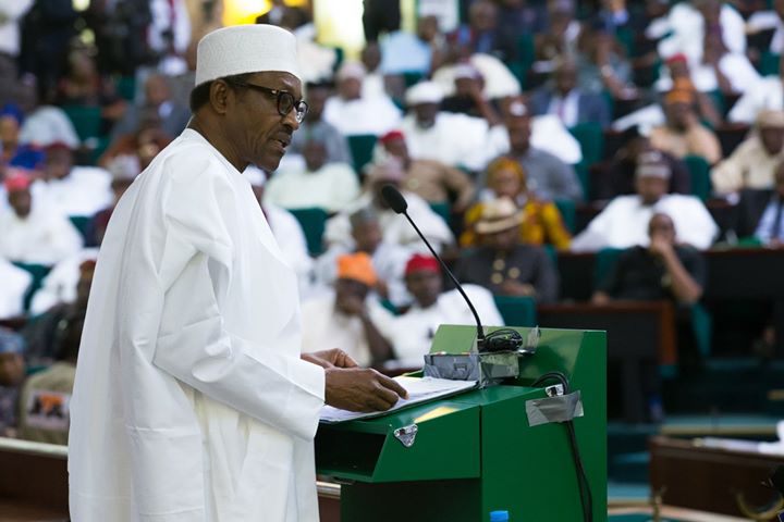 Lawmakers boo Buhari, scream 'no!' as he lists achievement during the 2019 Budget presentation