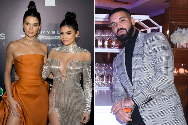 Kendall and Kylie Jenner spotted at Drake's New Year's Eve Party amid his beef with Kanye West