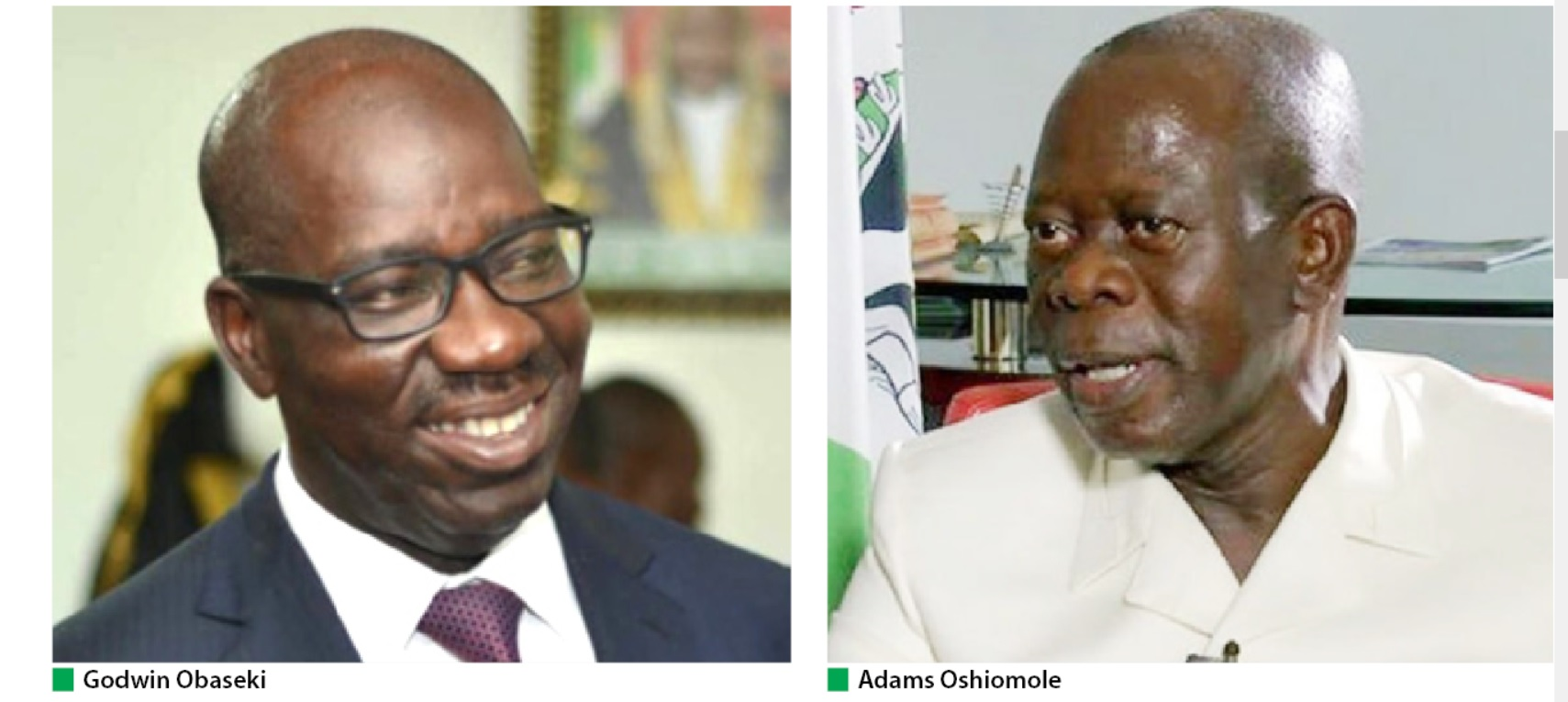 EDO 2020: Obaseki may need miracle to get re-elected as Oshiomhole ...