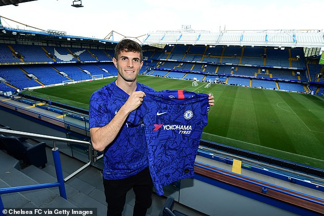 Chelsea unveil Christian Pulisic at Stamford Bridge after completing move from Borussia Dortmund