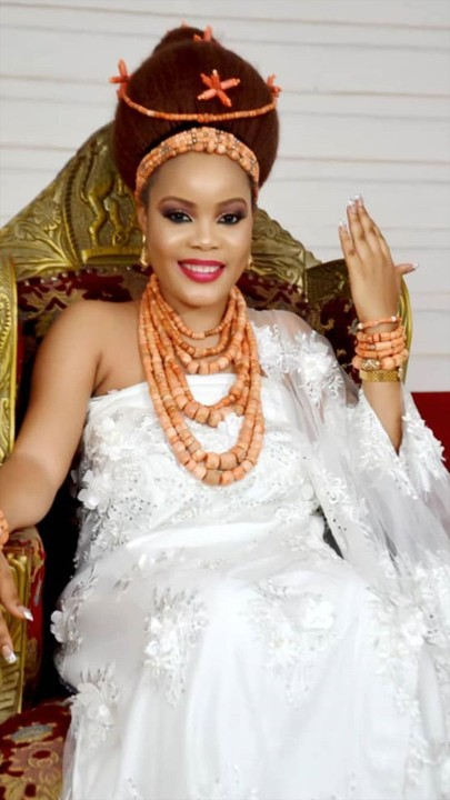 The young oba Of benin's 5th wife celebrates her birthday with
