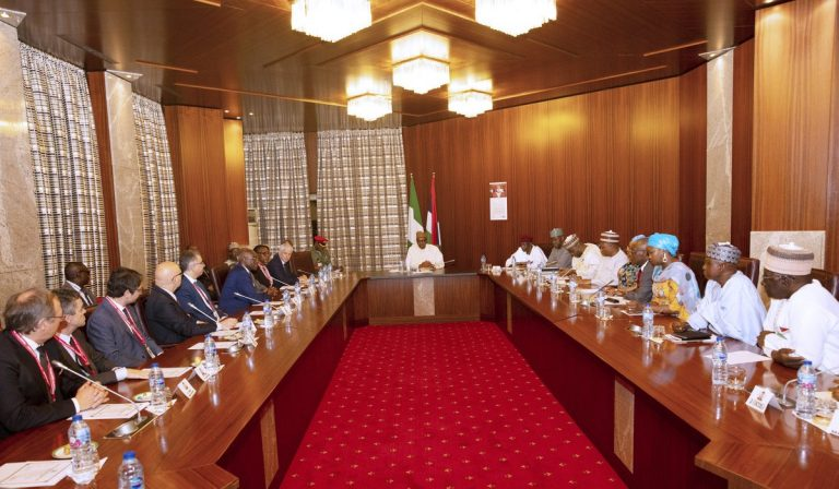 President Buhari received a delegation of the Italian Parliament, at the State House in Abuja.[PHOTOS]