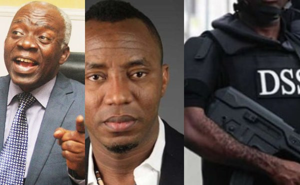 Image result for In one week, DSS has given 3 contradictory reasons for not releasing Sowore - Falana
