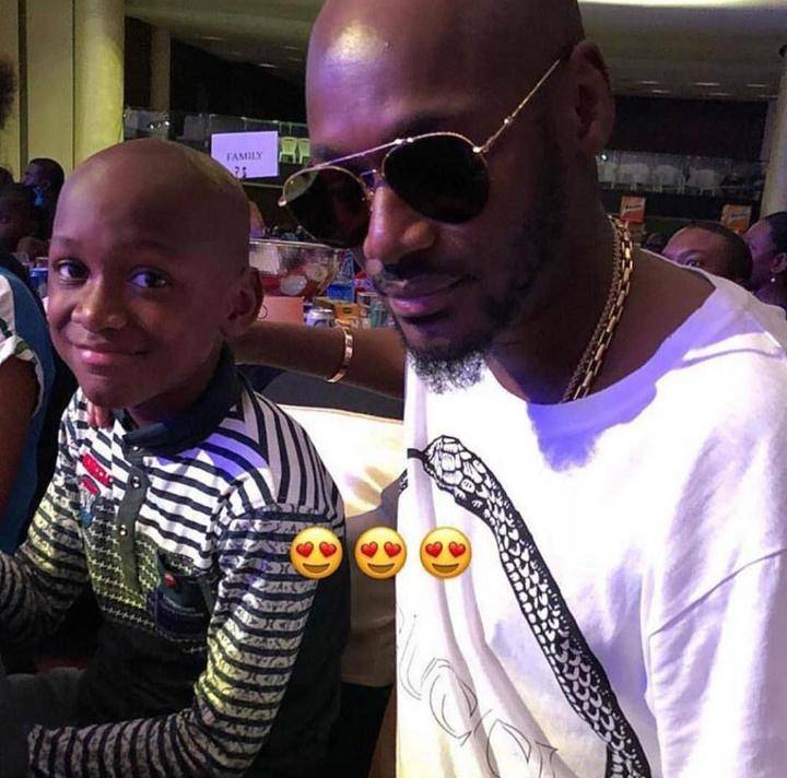 See photos of 2face's son that looks exactly Like Him