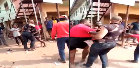 Police DPO gets out of his car to fight with Keke Operator who hit his car (Video)