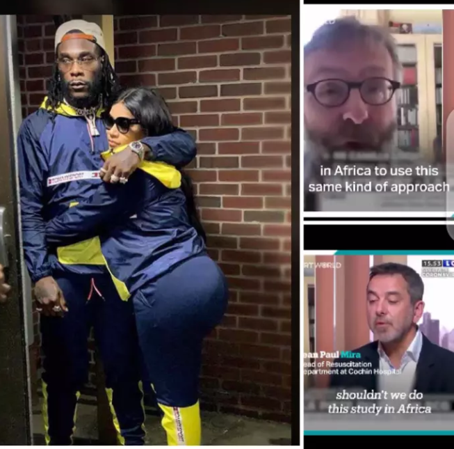 """""""Stay Away From Africa, With Your Poison""""- Burna Boy's Girlfriend Warns French Doctors (Photos)"""