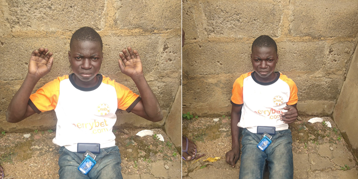 Boy arrested while allegedly defiling 6-yr-old girl inside an uncompleted building