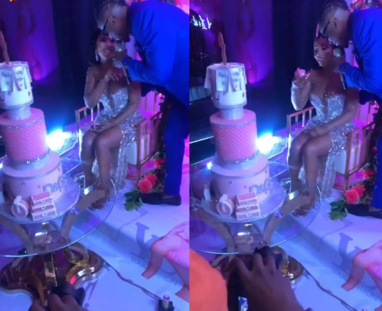Watch the moment everyone thought Ike was about to propose to Mercy Eke at her birthday party (Video)