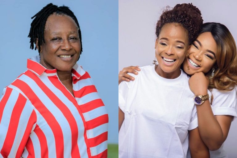 Patience Ozokwor consoles Rachael Okonkwo as her made was laid to rest