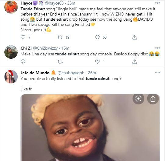 Don T Ever Sing Again Netizens Drag Tunde Ednut Over New Song Featuring Davido And Tiwa Savage Video Talk Of Naija I make a lot of money, i entertain you and give a lot. talk of naija