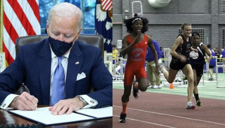 Biden signs order forcing schools to include transgender athletes in girls' sports