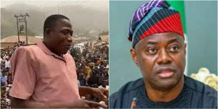 Bring all the soldiers and policemen to arrest me in my house – Activist Sunday Igboho dares Governor Makinde
