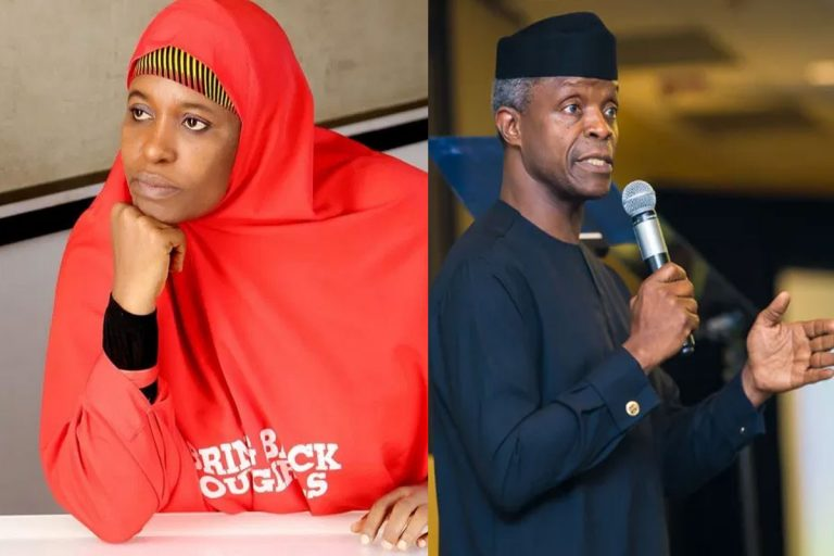 """""""What you see happening at Lekki Toll Gate was started by Professor Yemi Osinbajo"""" – Aisha Yesufu"""