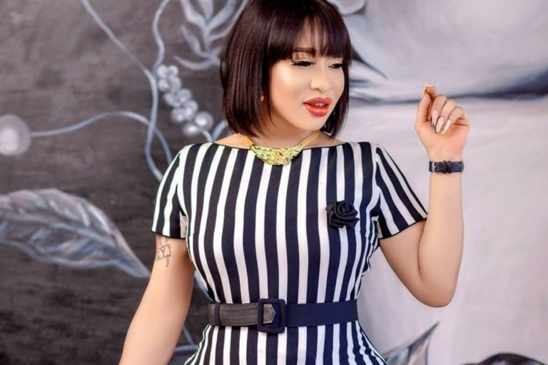 'I cried silently'— Tonto Dikeh shares her experience on the street after her car broke down