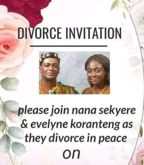 """Couple sends out divorce invitation asking their friends to join them as they 'divorce in peace"""""""