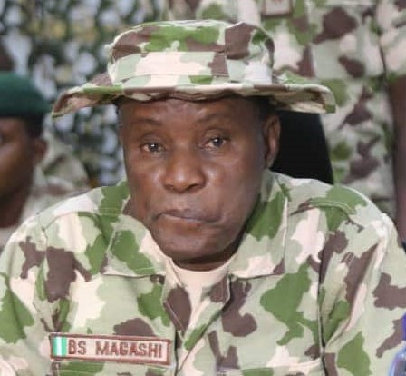 """""""Don't be afraid of bullet. If you are not meant to die by bullet, it will never kill you""""- Defence Minister, Bashir Magashi tells troops in the North East"""