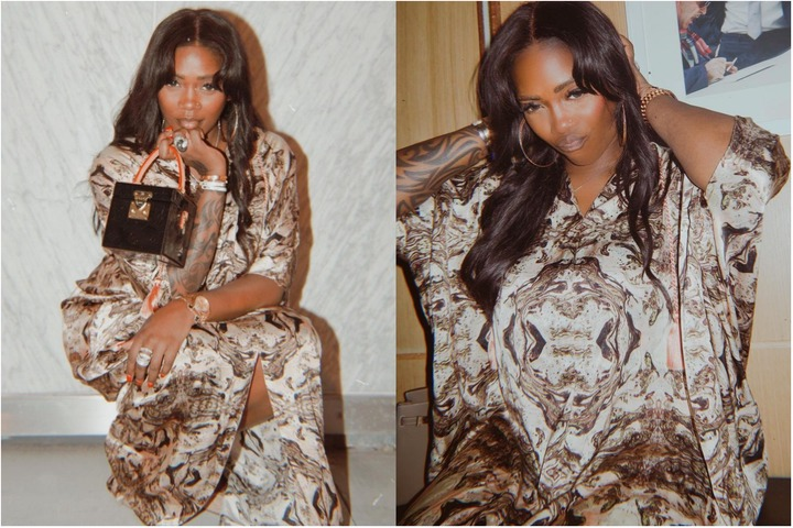 Tiwa Savage says she gives God all the praises, shares new photos on Instagram