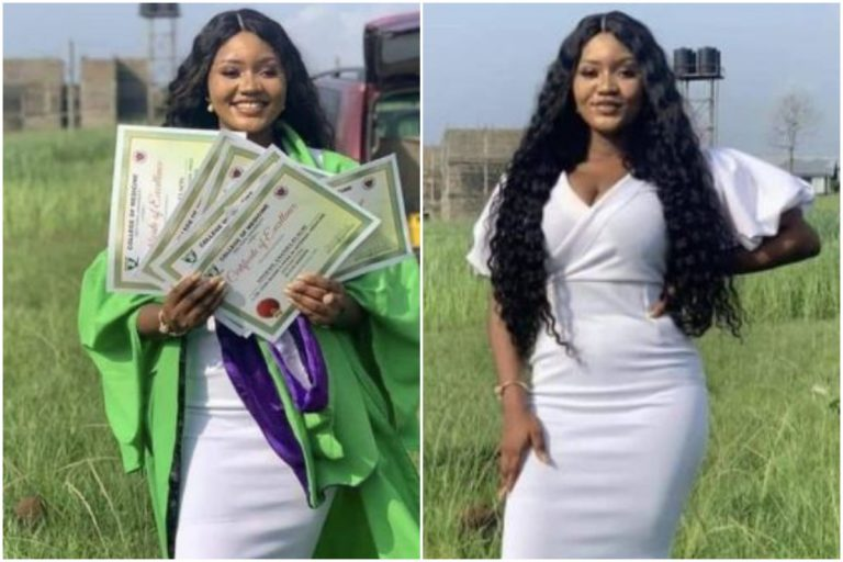 SEE PHOTOS: Nigerians Praises Slay Queen Who Bagged 7 Awards On Her Graduation