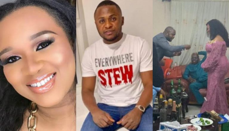 Ubi Franklin's ex Sandra Iheuwa shades him after her introduction Ceremony with Royal Hair Boss Steve