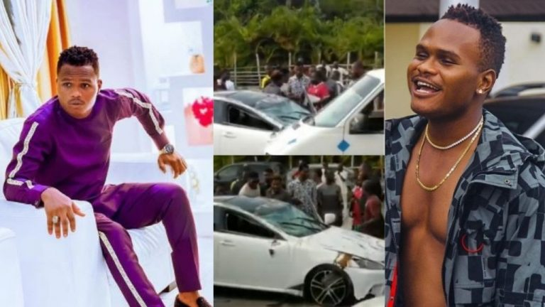 Comedian Oluwadolarz Involved In A Car Accident In Lagos (VIDEO)