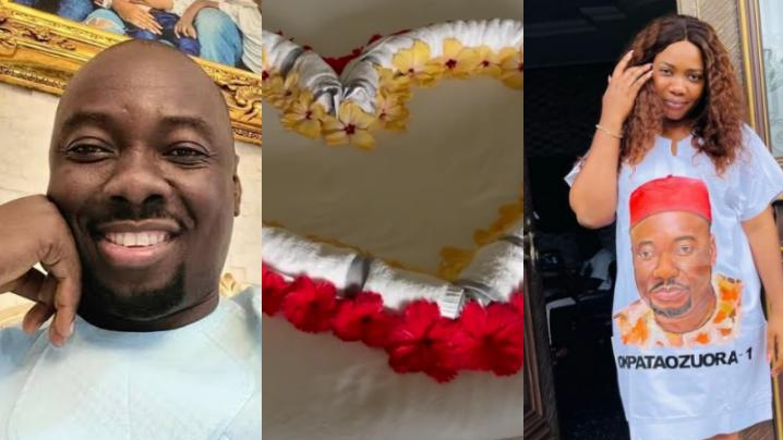 """""""My lover boy spoiling me since 1800, I'm a spoilt wife"""" – Obi Cubana's wife reacts to romantic gesture from husband"""