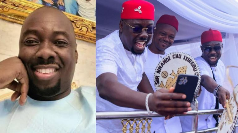 """""""I'm the last of the males,"""" – Obi Cubana reveals as he shows off his elder brothers (Photo)"""