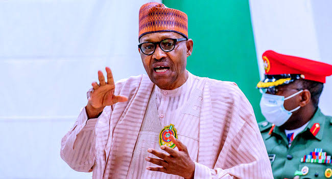 Don't report insecurity as rising, use 'declining insecurity', Buhari tells journalists