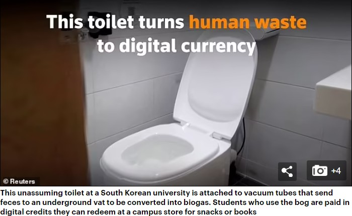 South Korean Toilet Turns Faeces Into Power And Digital Currency (Photos)