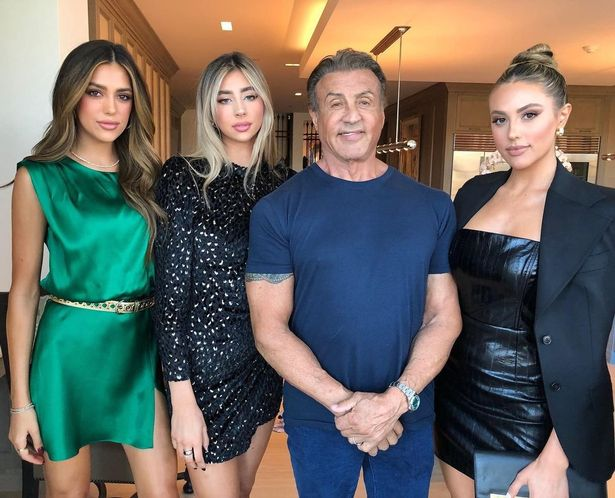 75-Year-Old Sylvester Stallone 'Rambo' Shows Off His 3 Glamorous Lookalike Daughters