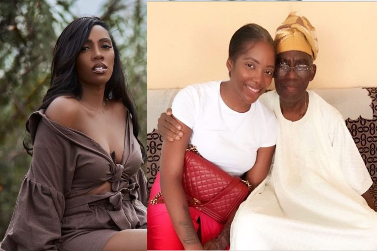 """""""We are giving my dad a befitting burial"""" – Tiwa Savage reveals, shares the burial invite online"""