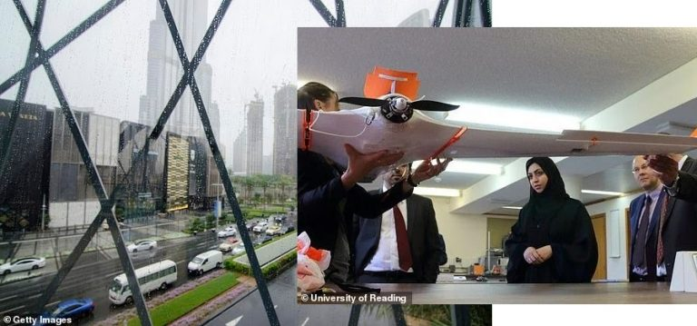 UAE Creates Rain Using Drone Technology That Gives Cloud Electric Shock (Pictures)