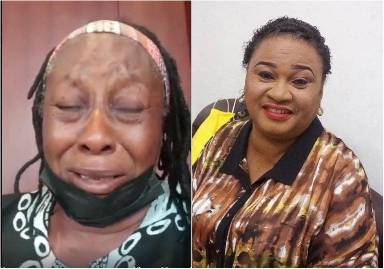 People who record themselves while crying are unserious – Nigerians react as Patience Ozokwor was seen crying in a viral video over the death of Rachel Oniga