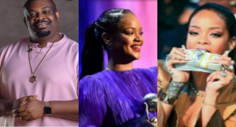 """""""I'm doing a giveaway abeg"""" – Don Jazzy reacts as Rihanna becomes the richest female musician in the world"""