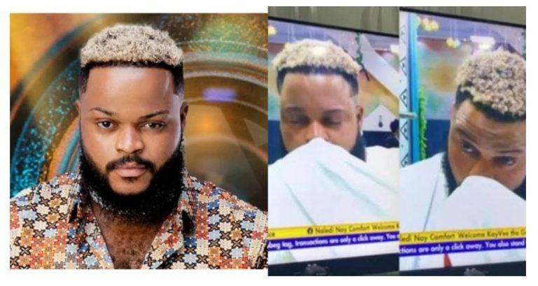 """""""I prayed to God and he answered me"""" – WhiteMoney says as he was caught crying after eviction night"""