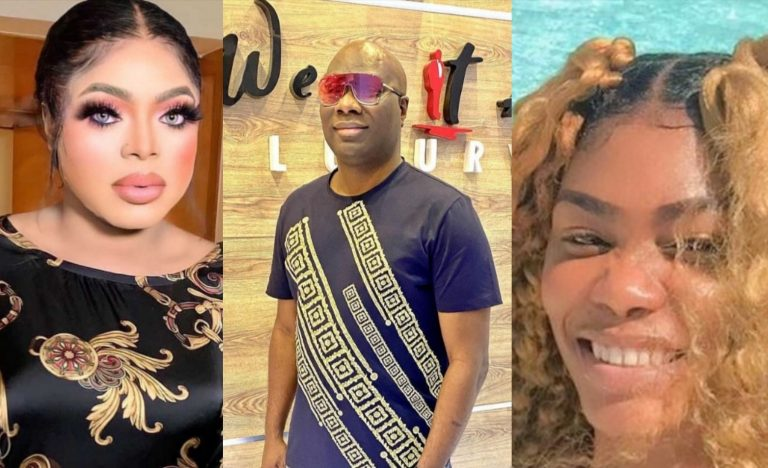 """""""I'm a married man and I don't do gays"""" – Mompha reacts to allegations he dated Bobrisky as he threatens to sue Bob's former PA, Oye"""