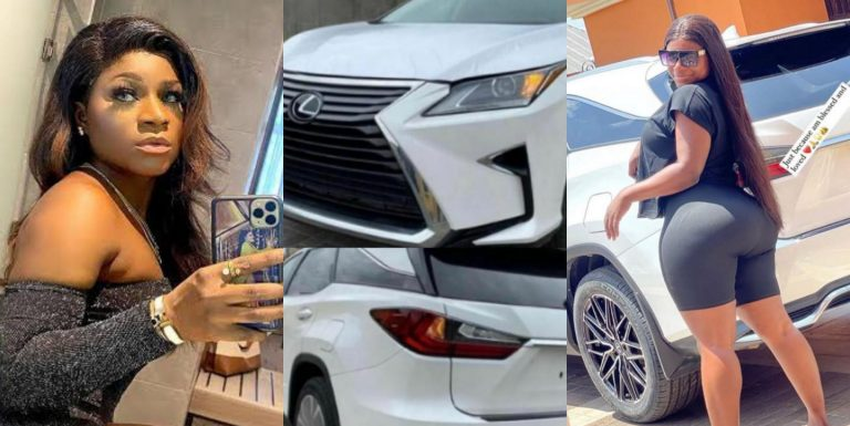 """""""It's because I'm blessed and loved"""" – Destiny Etiko says as she acquires another SUV (Photos)"""