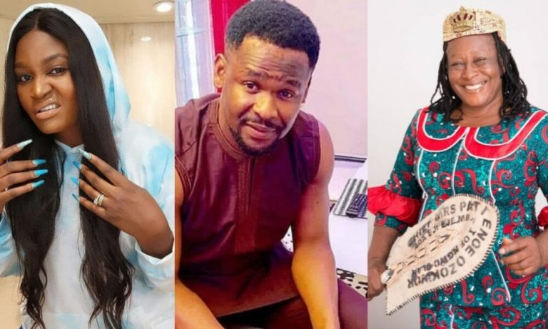 """""""Please forgive"""" – Patience Ozokwor reacts as Zubby Michael says he can never forgive Chizzy Alichi for insulting his mother"""