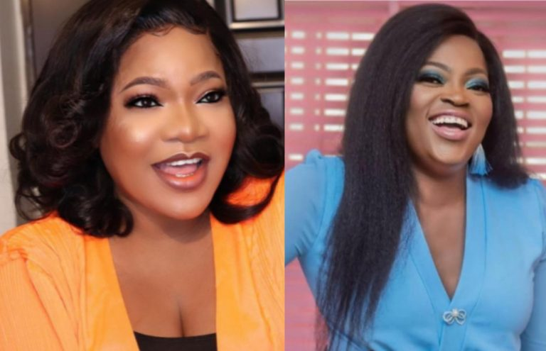 """""""She's my senior colleague and I respect her alot, forget social media"""" – Toyin Abraham reacts to alleged beef between her and Funke Akindele (video)"""
