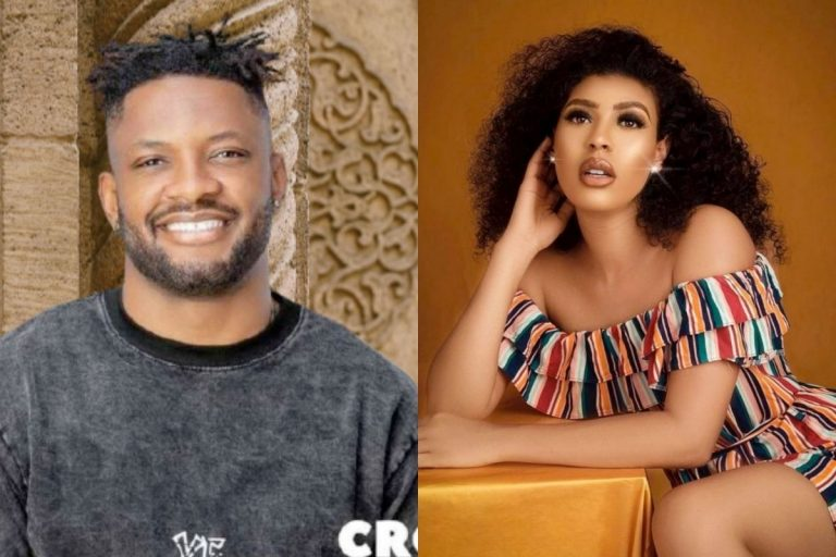 """""""Real man, you got my vote"""" – Reactions as Cross apologizes to Nini after she called him a stupid idiot (VIDEO)"""