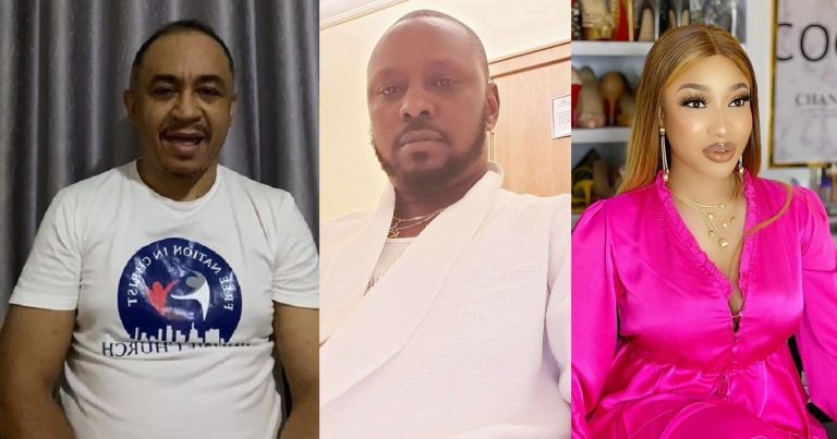 """""""Tonto should also check herself"""" – Reactions as Daddy Freeze tells Prince Kpokpogri to stop spoiling Tonto Dikeh's market so men won't run away from her (Video)"""