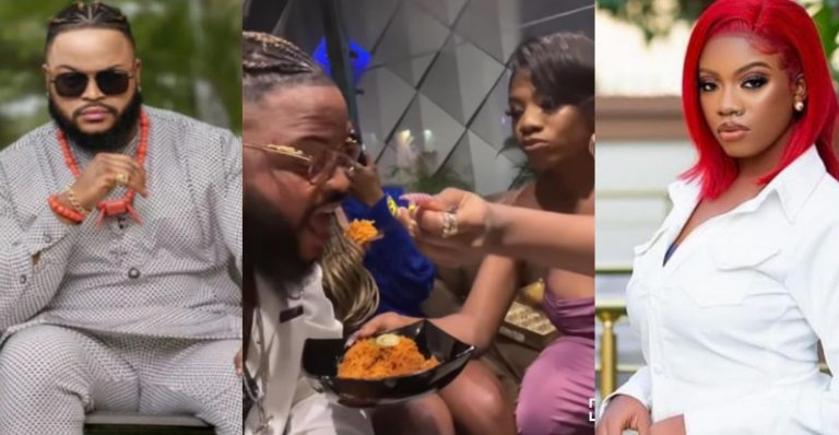 """""""My husband do you want water?"""" – Angel asks Whitemoney as she feeds him (Video)"""
