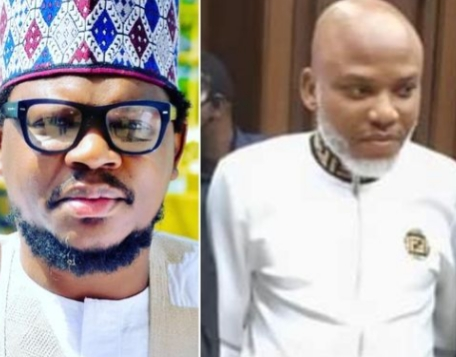 """""""Buhari knows how to handle and care for his prisoners, see how Mr. Kanu is shining"""" – Garba Adamu hails Buhari for 'taking care' of Nnamdi Kanu"""
