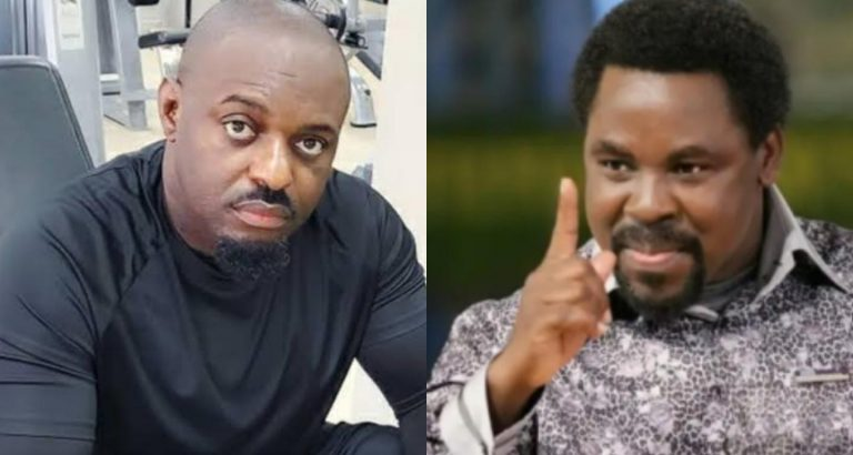 """""""I don't think I can ever forgive late Prophet T.B Joshua"""" – Jim Iyke reveals, as he recounts how the man of God forced deliverance on him and made him to confess things he knew nothing about"""