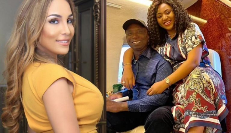 Ned Nwoko's wife, Laila Charani unfollows him on IG for allegedly giving Regina all the attentions, shortly after unfollowing her co-wife Regina Daniels